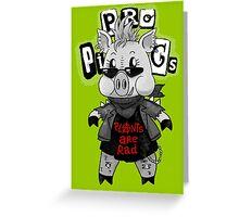 Punk Pig Greeting Card