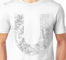 Botanical Alphabet Letter U Unisex T-Shirt