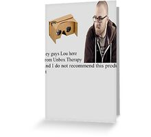 unbox therapy poor review Greeting Card