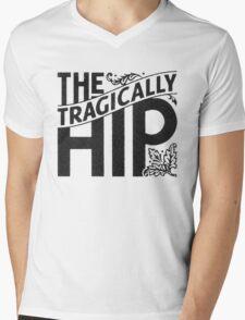THE TRAGICALLY HIP BLACK Mens V-Neck T-Shirt