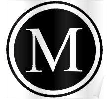 Monogram M Poster