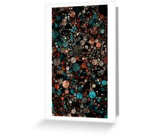 Abstraction #006 Green Black Geometric Circles Triangles Greeting Card