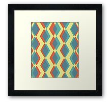 Primary Diamonds Framed Print