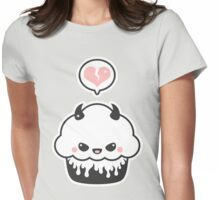 Cute Evil Cupcake Womens Fitted T-Shirt