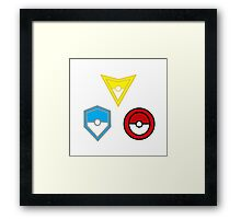 Pokemon Go- United Teams Framed Print