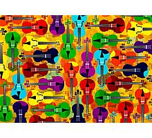 VIOLINS ALL OVER Photographic Print