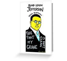 Blind Lemon Jefferson Blues Folk Art Greeting Card