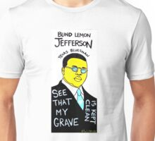 Blind Lemon Jefferson Blues Folk Art Unisex T-Shirt