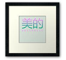 AESTHETIC Framed Print