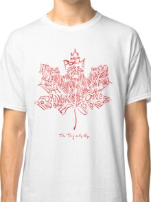 THE TRAGICALLY HIP FONT RED Classic T-Shirt