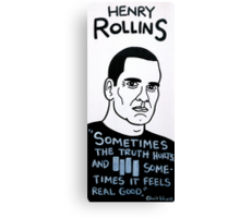 Henry Rollins Folk Art Canvas Print