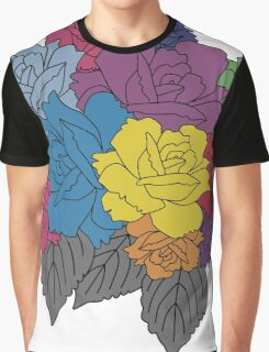 Colourful Bunch of Roses Graphic T-Shirt