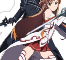asuna and kirito blade to blade Sticker