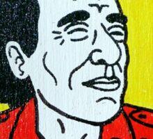 Charles Bukowski Folk Art Sticker