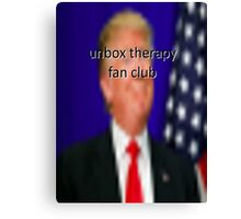 donald trump for president of the unbox therapy fanclub Canvas Print