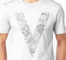 Botanical Alphabet Letter V Unisex T-Shirt