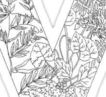 Botanical Alphabet Letter V Sticker
