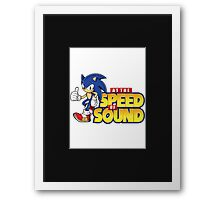 Sonic - The Speed of Sound Framed Print