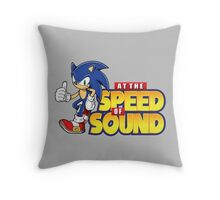 Sonic - The Speed of Sound Throw Pillow