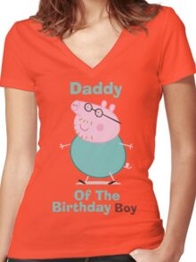 Daddy (HBD) Boy Women's Fitted V-Neck T-Shirt