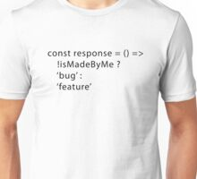 Developer Response Function (Javascript) Unisex T-Shirt