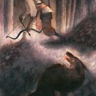 A Peculiar Moment Between Two Hunters by Pauliina Hannuniemi