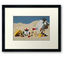 Lego Tatooine picnic Framed Print