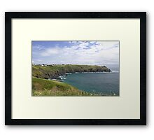 The coastal path Framed Print