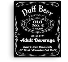 Duff Beer Canvas Print