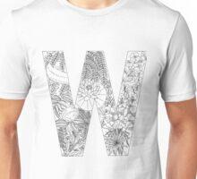 Botanical Alphabet Letter W Unisex T-Shirt