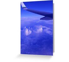 Aerial Blue Hues II Greeting Card