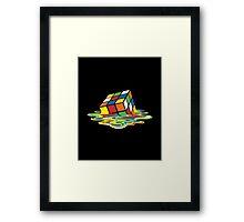 Melting Rubik Cube Framed Print