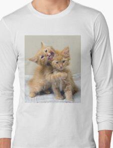 Orange Tabby Kittens Long Sleeve T-Shirt