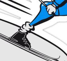 Winter Urlaub ski abfahrt witzig comic  Sticker