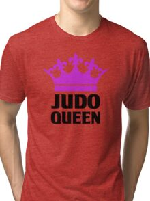 Judo Queen Funny Womens T Shirt Tri-blend T-Shirt