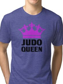 Judo Queen Funny Womens T Shirt Tri-blend T-Shirt