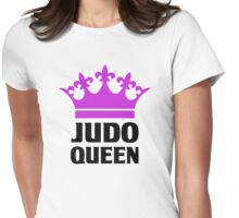 Judo Queen Funny Womens T Shirt Womens Fitted T-Shirt