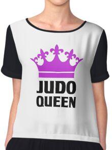 Judo Queen Funny Womens T Shirt Chiffon Top