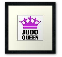 Judo Queen Funny Womens T Shirt Framed Print