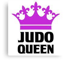 Judo Queen Funny Womens T Shirt Canvas Print