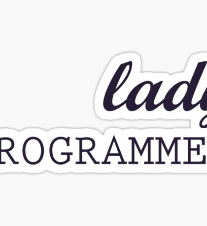 Lady Programmer Sticker