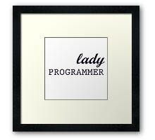 Lady Programmer Framed Print