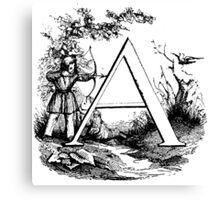 Child Alphabet Letter A Canvas Print