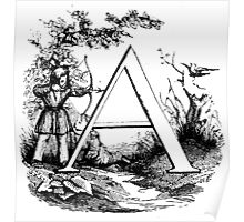 Child Alphabet Letter A Poster
