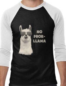 No Probllama Men's Baseball ¾ T-Shirt