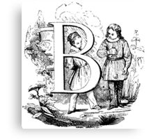 Child Alphabet Letter B Canvas Print