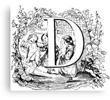 Child Alphabet Letter D Canvas Print