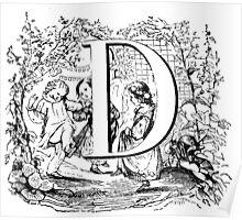 Child Alphabet Letter D Poster