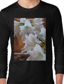 WHITE AMARYLLIS CLUSTERS Long Sleeve T-Shirt