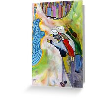 New York, the same dream a million times dreamt before me (My dreams of America, part1)                                                        Greeting Card